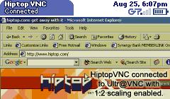 HiptopVNC Screenshot 1